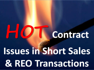 Hot Contract Issues in Short Sales & REO Properties